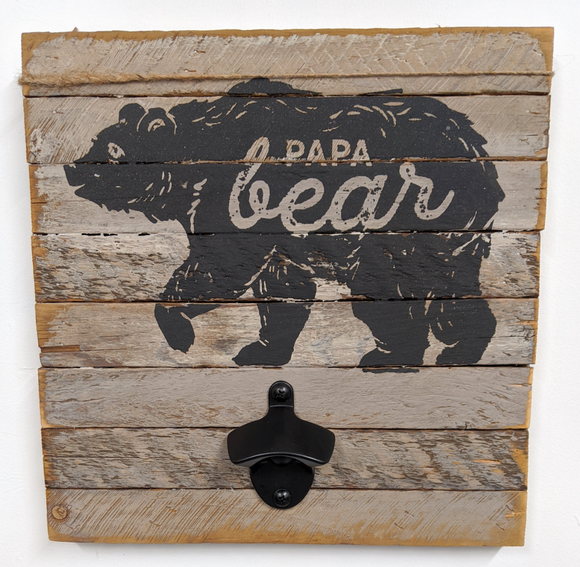 245 ($30) Bottle Opener - Papa Bear
