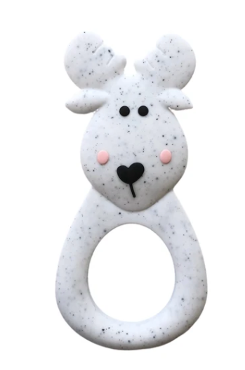 061 ($18) Single Teether Moose - Speckle
