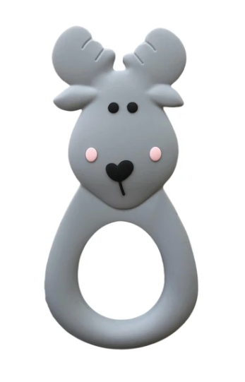 061 ($18) Single Teether Moose - Grey