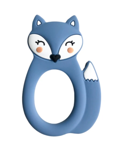 061 ($18) Single Teether Fox - Blue