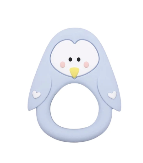 061 ($18) Single Teether Penguin - Blue