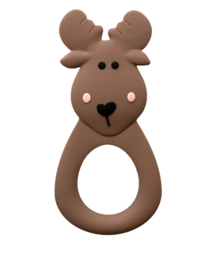 061 ($18) Single Teether Moose - Brown