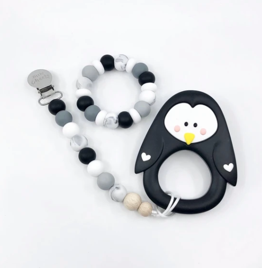 061 ($18) Multi Pacifier Clips - Monochrome