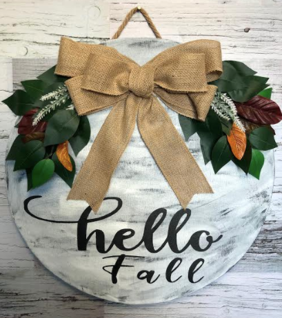 206 ($45-$50) Round Signs - Hello Fall