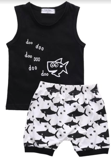 233 ($28) Baby Shark - T-shirt with Shorties