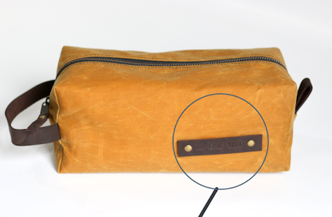 126 ($60) Aven Pouches - Waxed Bag - With sayings