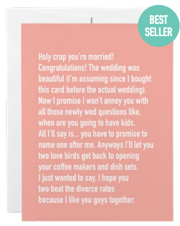 032 ($6) Card - Chatty Kathy - Holy Crap You're Married