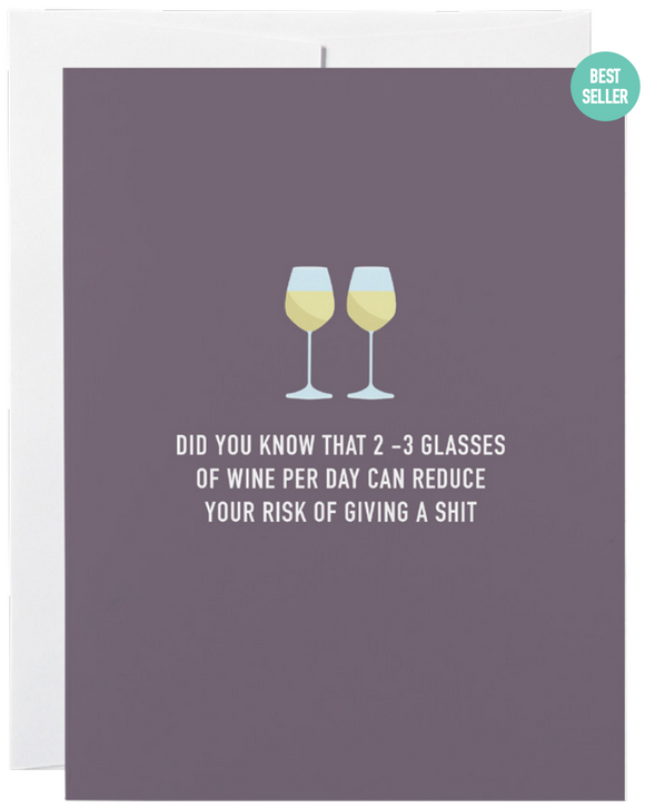 032 ($6) Card - Did You Know That 2-3 Glasses of Wine