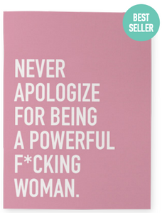 032 ($15) Notebook - Never Apologize