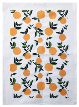 038 ($20) Tea Towel - Oranges