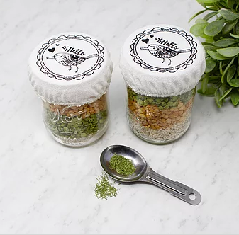 056 ($10) Birds - Mason Jar Covers - Set of 2