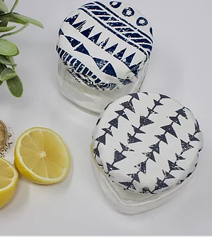 056 ($10) Tribal - Mason Jar Covers - Set of 2