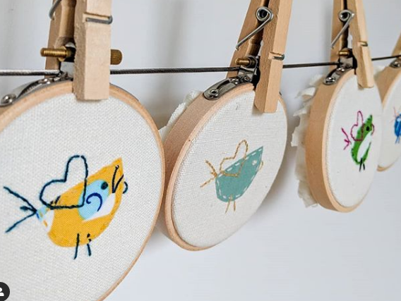 118 ($15) Embroidery Art - Small - Ornaments