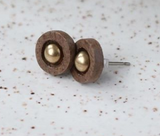 111 ($35) Earrings - Studs - Circle with Brass