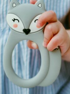 061 ($18) Single Teether Fox - Grey