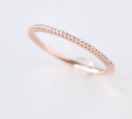 133 ($38) Rose Gold Sparkler Ring