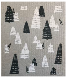 038 ($6.50) Sponge - Woods - Grey and White