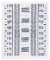 038 ($6.50) Sponge - Mudcloth - Black on White