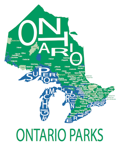 211 ($30) Map - Ontario Parks - 11x14