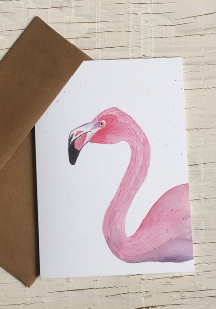 201 ($6) Card - Flamingo