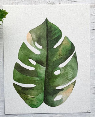 201 ($6) Card - Monstera