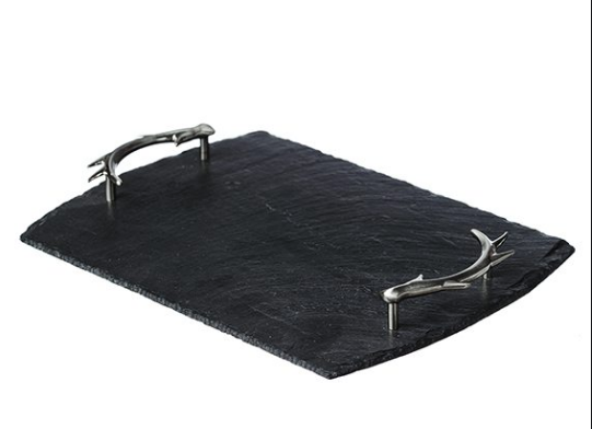 069 ($100) Slate with Antler Handles - Medium