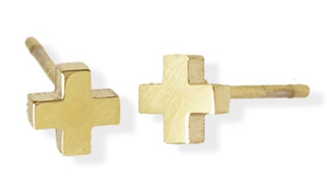 023 ($26) Earrings - Cross - Gold