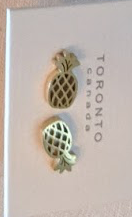023 ($32) Earrings - Pineapple - Gold