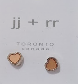 023 ($18) Earrings - Heart Coral