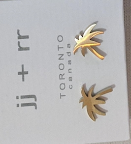 023 ($32) Earrings - Palm Tree - Gold