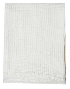 076 ($28) Tea Towel Hampton - Milk - Linen