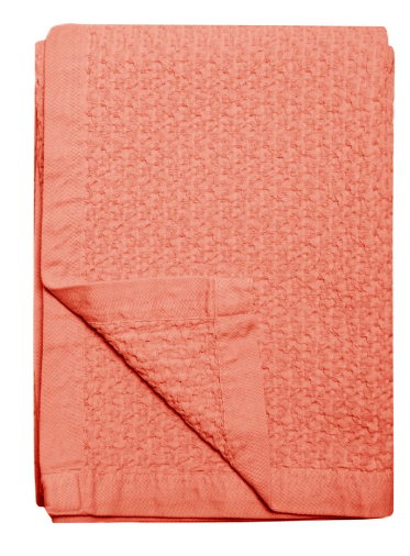 076 ($98) Throw Santarem - Mango - Cotton