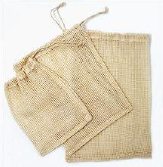 077 ($14) Mesh Produce Bags - 3Pk Cotton S/M/L