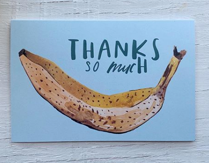 201 ($5) Card - Thanks So Much Banana