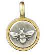 071 ($22) Bee - Teeny Pendant Silver and Bronze