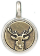 071 ($32) Dear - Tiny Pendant Silver and Bronze