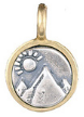 071 ($32) Mountain - Tiny Pendant Silver and Bronze