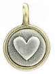 071 ($32) Heart - Tiny Pendant Silver and Bronze