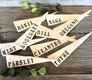 029 ($6) Herb Markers