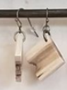 111 ($35) Earrings - Hanging - Tap Hole Maple