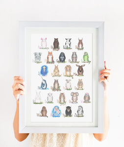 205 ($60) Animal Alphabet - Framed 12 x 16
