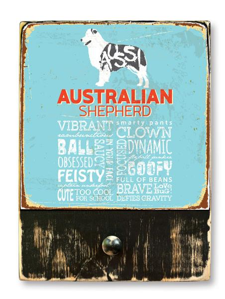 221 ($42.99) Australian Shepherd - Dog leash hanger.