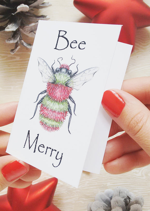 205 ($12) Mini Card Set - Bee Merry