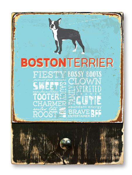 221 ($42.99) Boston Terrier - Dog leash hanger.