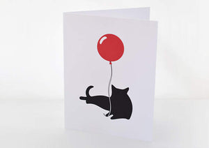225 ($6) Card - Cat w/Balloon