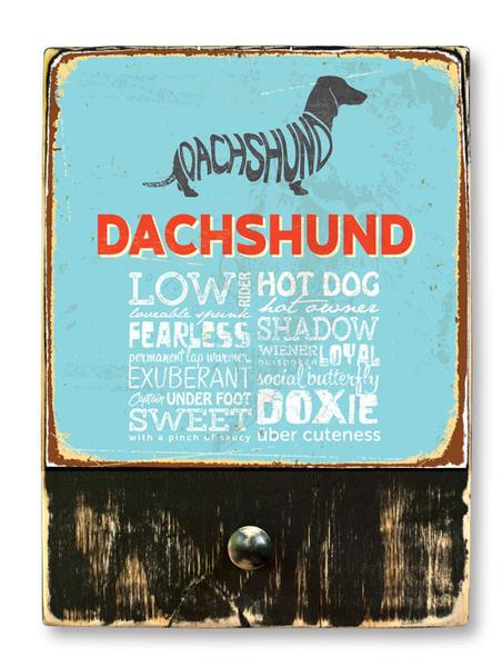 221 ($42.99) Dachshund - Dog leash hanger.