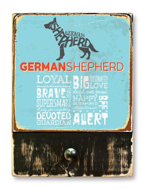 221 ($42.99) German Shepherd - Dog leash hanger.