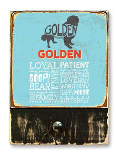 221 ($42.99) Golden - Dog leash hanger.
