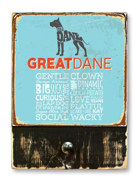 221 ($42.99) Great Dane - Dog leash hanger.