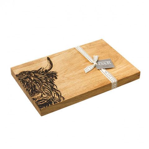 069 ($100) Highland Cow - Oak Board